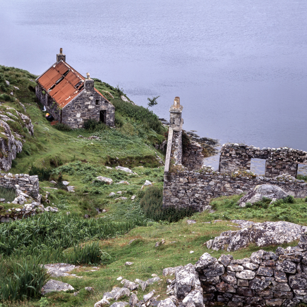 Manish on the Golden Road, Harris, Outer Hebrides, decay, crofts